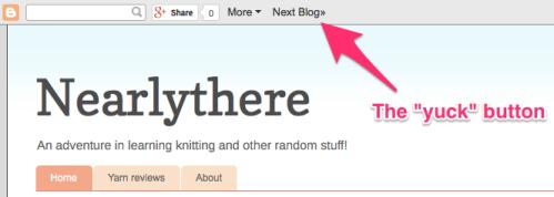 blogger yuck button