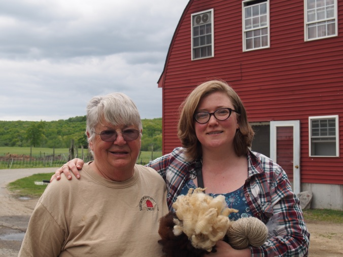 With Sue Sanjow on the farm