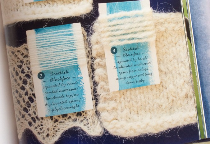 close up from spinners book of fleece