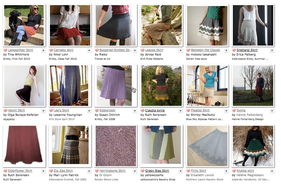 Raverly Round Up 18 Knitted Skirt Patterns Nearlythere