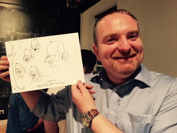 Barry Adams @Badams drawn by @Live_Drawing