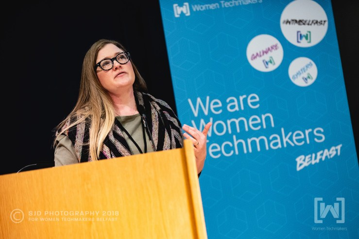 Me speaking at WTM Belfast
